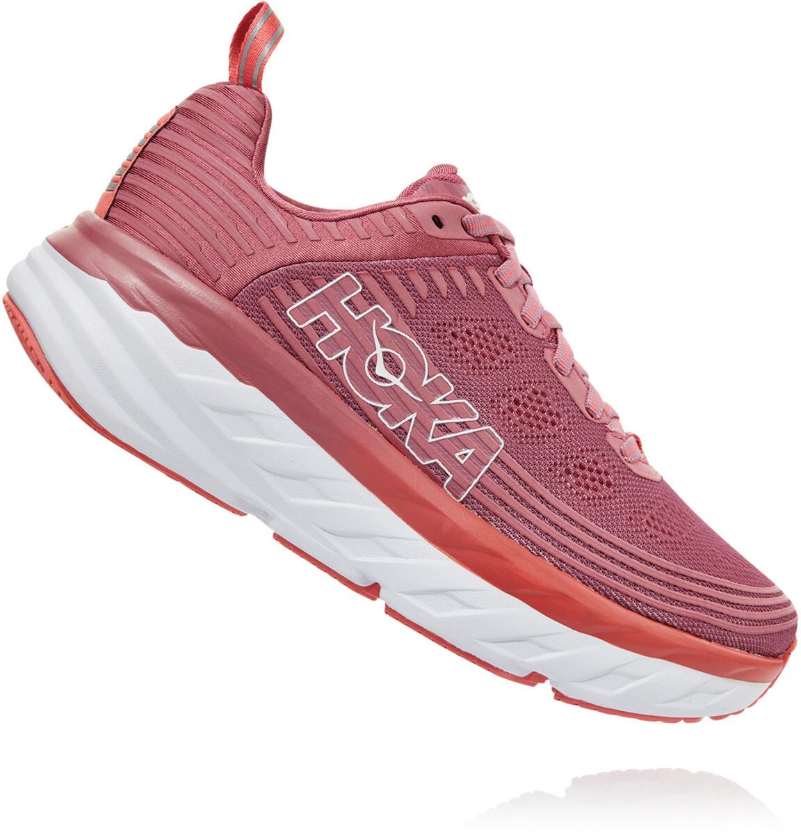 Hoka One One Bondi 6 Running Shoes Dame mood indigodusty pink